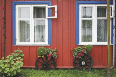 typisches, baltisches Haus