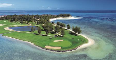 Blick auf das Resort, Golfplatz