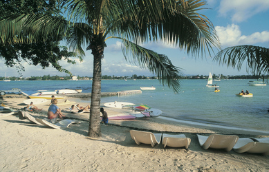 Strand auf Mauritius