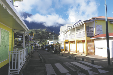 Straßenbild in Cilaos