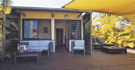 Schattige Terrasse