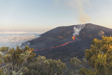 Der aktive Vulkan Piton de la Fournaisee