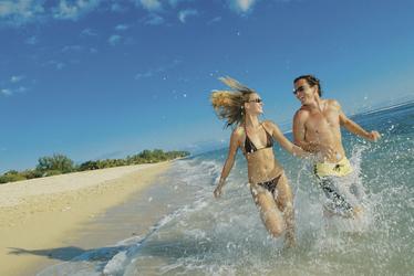 Spaß am Strand auf Reunion