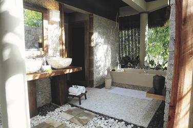 Freiluftbadezimmer