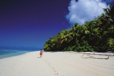 Am einsamen Sandstrand