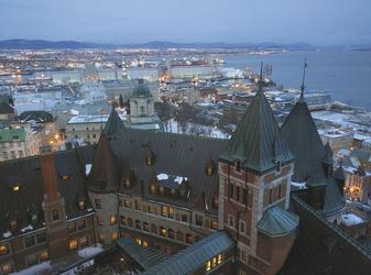 Blick auf Quebec City