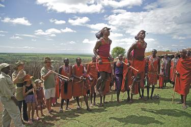 Tanzvorführungen der Masai