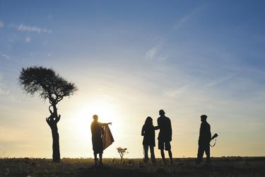 Unterwegs mit einem Masai