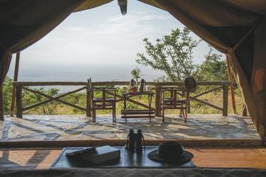 Ausblick aus dem Classic Safarizelt