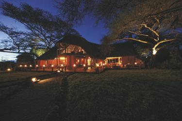 Die Lodge am Abend