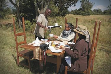 Buschdinner im Mbweha Camp