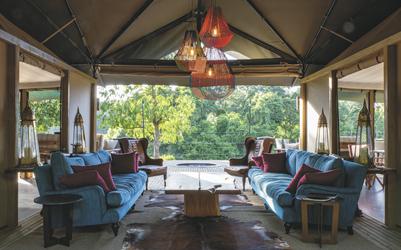 Die Lounge im Il Moran Camp, ©WILLIAM FORTESCUE