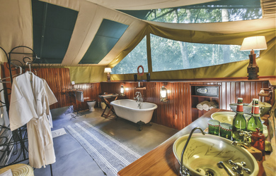 Badezimmer im Il Moran Camp, ©Governors'