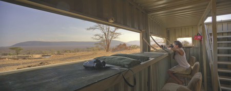 Fotografenversteck im Saruni Samburu