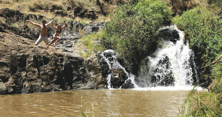 Ein natürlicher Pool nahe der Lodge