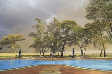 Sogar vom Pool aus lassen sich wilde Tiere beobachten, ©Usha Harish