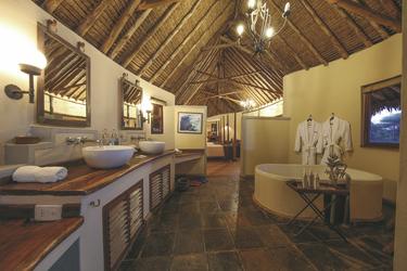 Das Badezimmer in einem Cottage