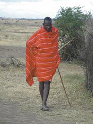 Mann der Masai