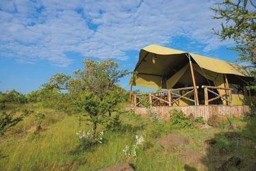 Außenansicht klassisches Safarizelt