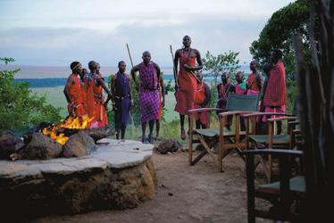 Abendshow mit Masai