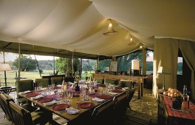 Speisezelt in der Masai Mara