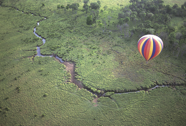 Im Ballon über der Masai Mara