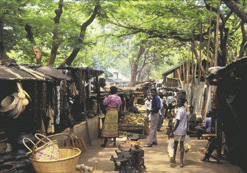 Besuch des Zomba Marktes
