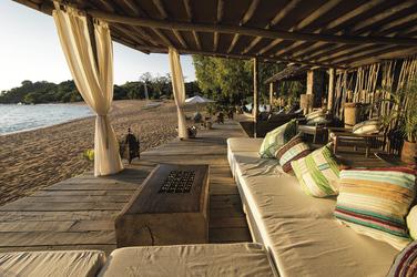 Gemütliche Bar am Strand