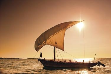 Sonnenuntergang über dem Lake Malawi