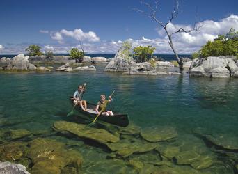 Kanu fahren auf dem Malawisee