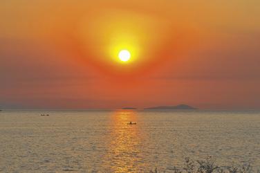 Sonnenuntergang Lake Malawi