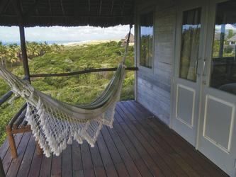 Hängematte auf der Terrasse