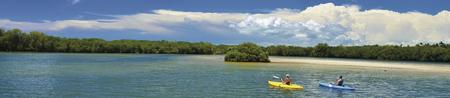 Kanu fahren auf der Lagune