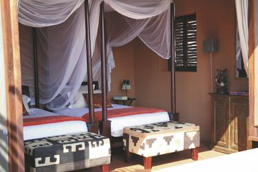 Schlafzimmer mit Twin Betten