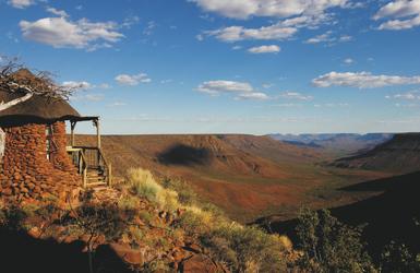 Herrliche Aussicht von der Grootberg Lodge