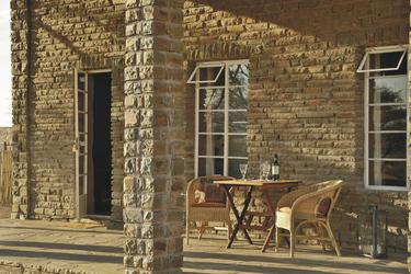 Terrasse des Honeymoon Chalets