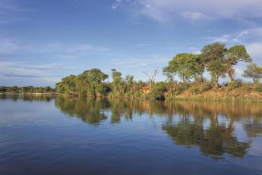 Herrliche Flusslandschaft