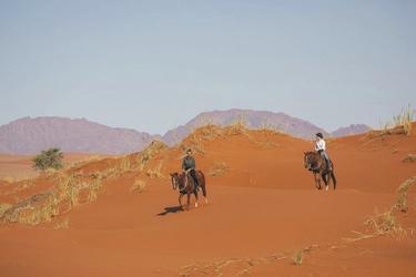 Auf dem Pferderücken durch die Dünen, ©Niels van Gijn