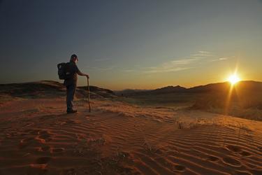Wandern durch die Weite der Namib