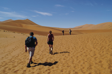 Die Dünen durchwandern