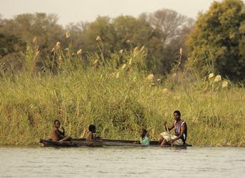 Lokale Fischer bei der Arbeit