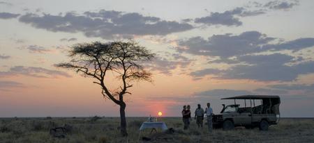 Abendstimmung auf Onguma, ©David Rogers