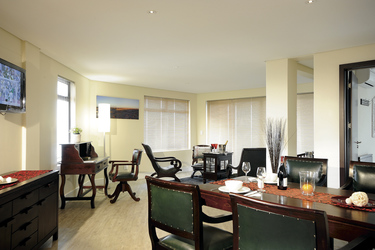 Esszimmer des Luxus-Apartments