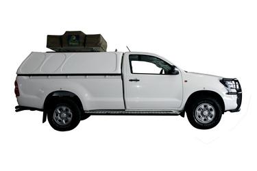 Kat. G, Toyota Hilux Single Cab 4x4 mit Campingausrüstung