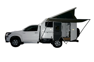 Kat. K, Toyota Hilux Single Cab 4x4 Bushcamper