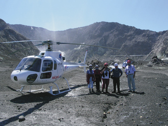 Landung auf White Island