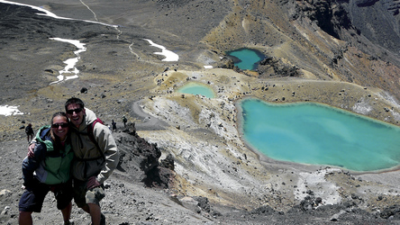 Wanderer beim Tongariro Crossing