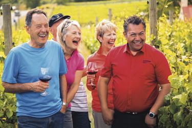 Weinprobe im ältesten Weingut Neuseelands