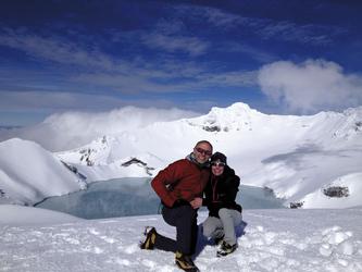 Der Kratersee im Winter