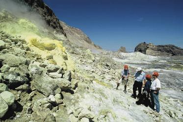 Während der Tour über die Vulkaninsel